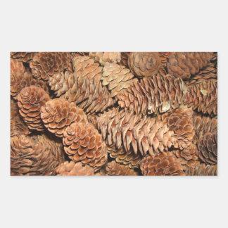 Christmas Pine Cones Rectangular Sticker