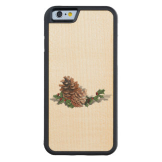 Christmas Pine Cones Carved® Maple iPhone 6 Bumper Case