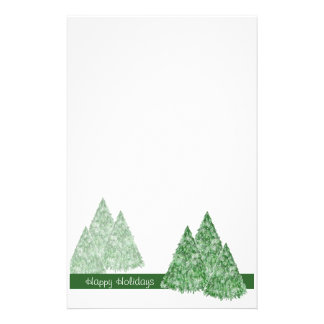 Christmas Pine Trees Stationery - TBA