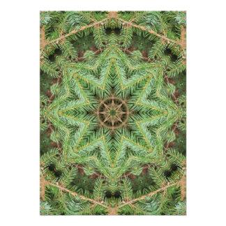 Christmas Pine Wreath Mandala Announcement