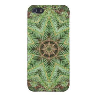 Christmas Pine Wreath Mandala Covers For iPhone 5