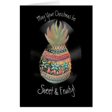 Christmas Themed Christmas Pineapple Card