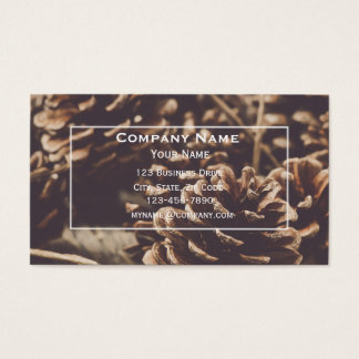 Christmas Pinecone Business Card