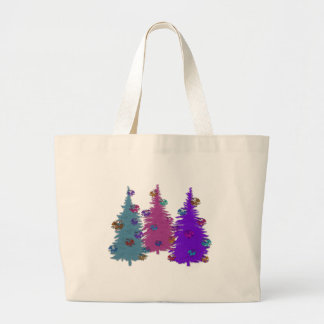 Christmas Pinecones Canvas Tote Jumbo Tote Bag