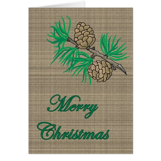 Christmas Pinecones Card