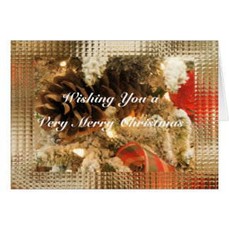 Christmas Pinecones- customize as deisred Greeting Card