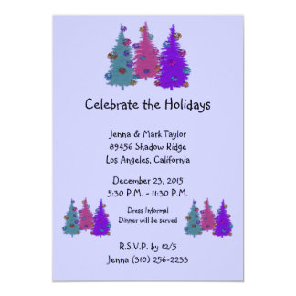 Christmas Pinecones Holiday Party Invitations