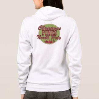 Christmas pines north pole hoodie