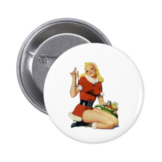 Christmas Pinup 2 Inch Round Button
