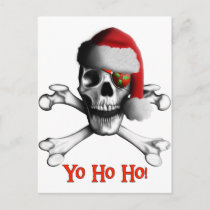 Christmas Pirate Holiday Postcard