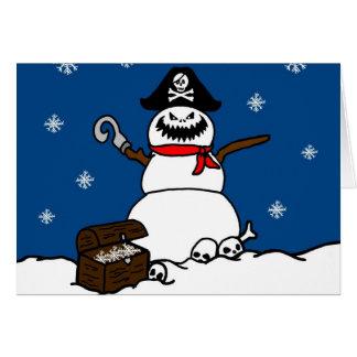 Christmas Pirate Snowman Card