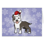 Christmas Pitbull / American Staffordshire Terrier Greeting Cards