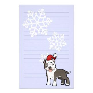 Christmas Pitbull / American Staffordshire Terrier Stationery