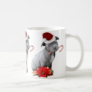 Christmas pitbull puppy coffee mug