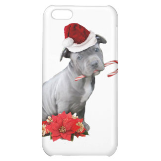 Christmas pitbull puppy case for iPhone 5C