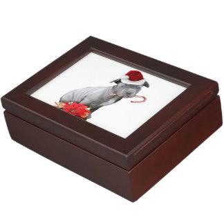 Christmas pitbull puppy keepsake box
