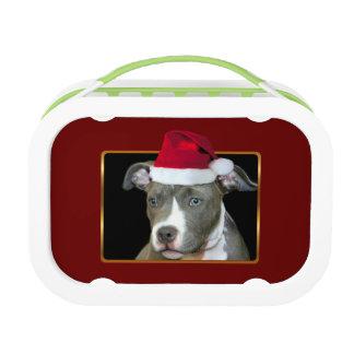 Christmas Pitbull puppy Lunch Box