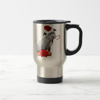 Christmas pitbull puppy mug
