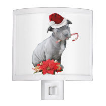 Christmas pitbull puppy night light