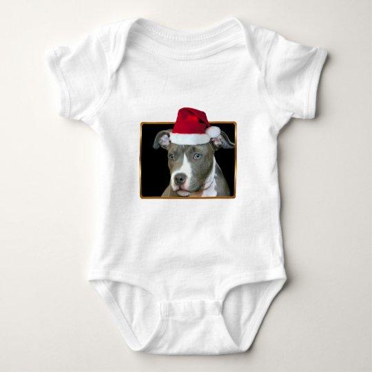 Christmas pitbull puppy T-shirt
