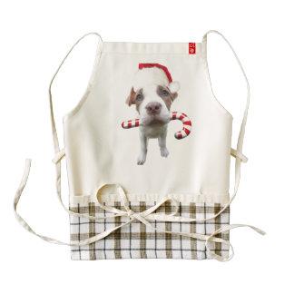 Christmas pitbull - santa pitbull -santa claus dog zazzle HEART apron