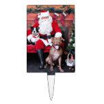 Christmas - Pitbulls - Mia & Lucian Cake Pick