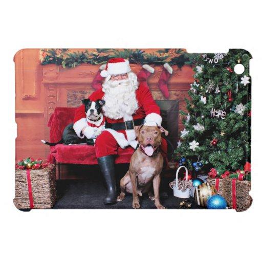 Christmas - Pitbulls - Mia & Lucian Cover For The iPad Mini