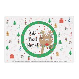 Christmas Placemat Laminated 2-Sides Personalize