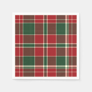Christmas Plaid 12-PAPER PARTY NAPKINS
