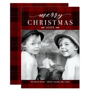 Christmas Plaid Classic Holiday Photo Card