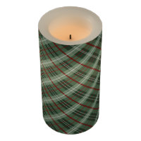 Christmas Plaid Flameless Candle