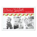Christmas Plaid     Holiday 3 Photo Card