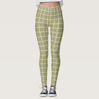 Christmas plaid leggings