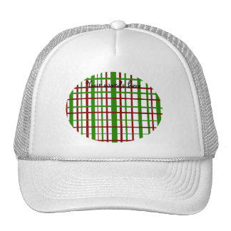 Christmas plaid pattern trucker hat