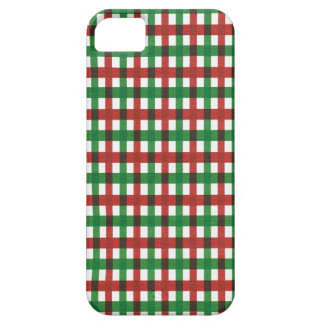 Christmas plaid pattern red green iPhone SE/5/5s case