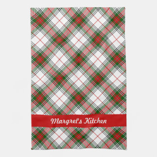 Christmas Plaid ~ Personalized Hand Towel