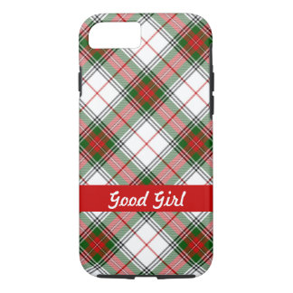 Christmas Plaid ~ Personalized iPhone 7 Case