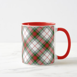 Christmas Plaid ~ Personalized Mug