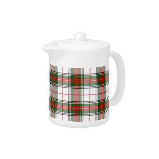Christmas Plaid ~ Personalized Teapot