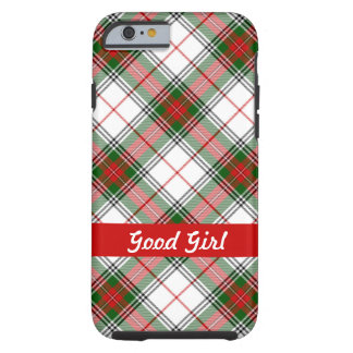 Christmas Plaid ~ Personalized Tough iPhone 6 Case