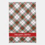 Christmas Plaid ~ Personalized Towel