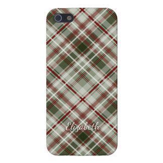 Christmas plaid red green white case for iPhone SE/5/5s