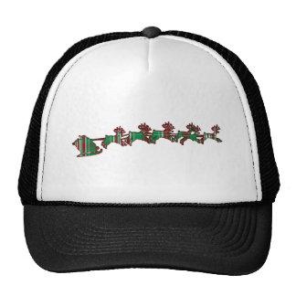 Christmas Plaid Santa Trucker Hat