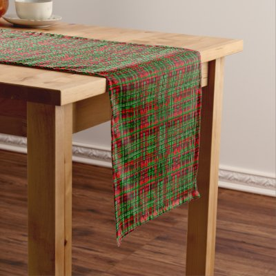pink snowflake pattern christmas table runner zazzlecom - Christmas Plaid Table Runner