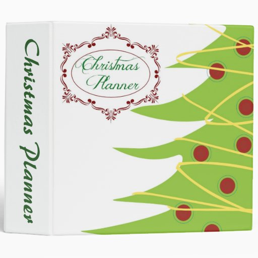Christmas Planner 3 Ring Binder