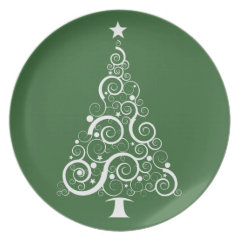 Christmas Plate - choose your color
