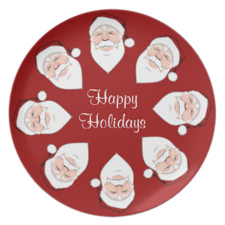 Christmas Plate Personalize Holiday Santa Plates