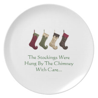 Christmas Plate  The Stockings Were Hung...