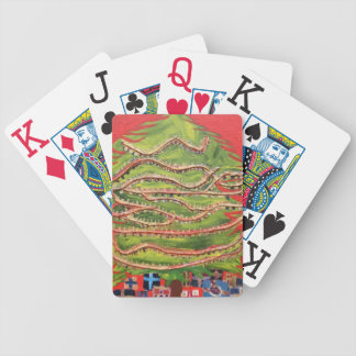 Christmas play cards bicycle playing cards