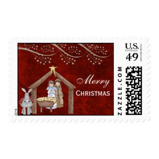 Christmas Plays Postage Stamp